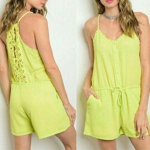Dresses & Skirts - NWT Drawstring Waist Romper